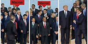 Emmanuel Macron Donald Trump G20 Summit