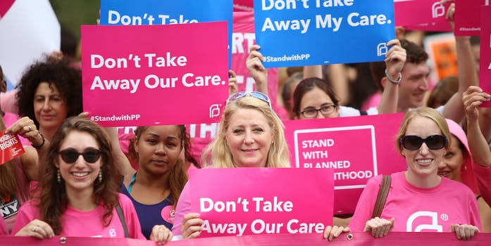 Activists and directors of Planned Parenthood gathered New York City.