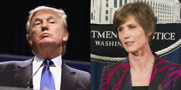 Donald Trump and Sally Yates