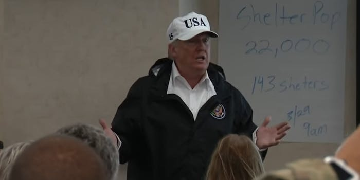President Donald Trump will donate $1 million dollars of his own money to relief efforts surrounding Hurricane Harvey