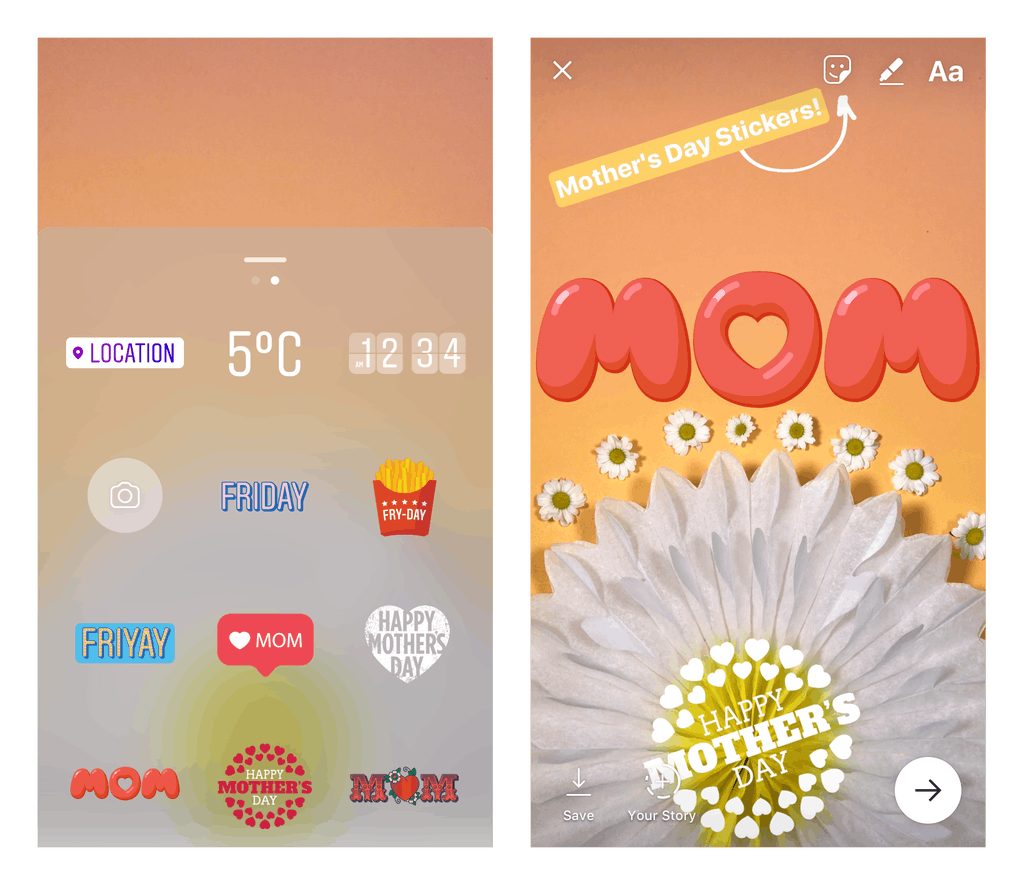 Instagram Mothers Day Stickers