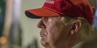 Donald Trump in Make America Great Again Hat