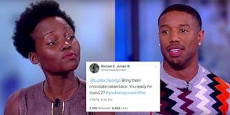 'Black Panther' co-stars Lupita Nyong'o and Michael B. Jordan exchanged suggestive tweets.