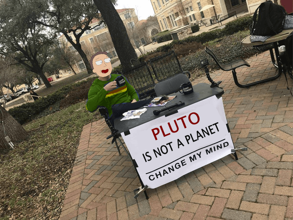 pluto is not a planet jerry rick and morty change my mind meme