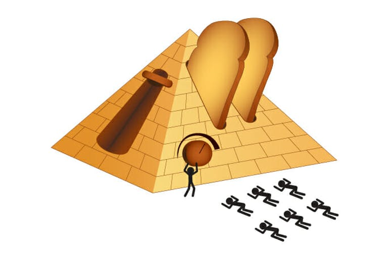 great pyramids as giant toaster