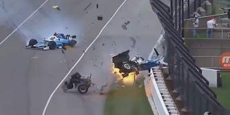 Indy 500 crash Scott Dixon Jay Howard
