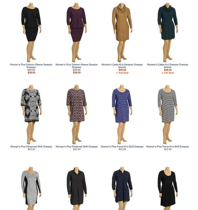 An assortment of Old Navy plus sizes