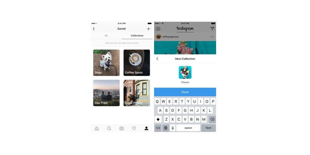 save Instagram Collections on iOS