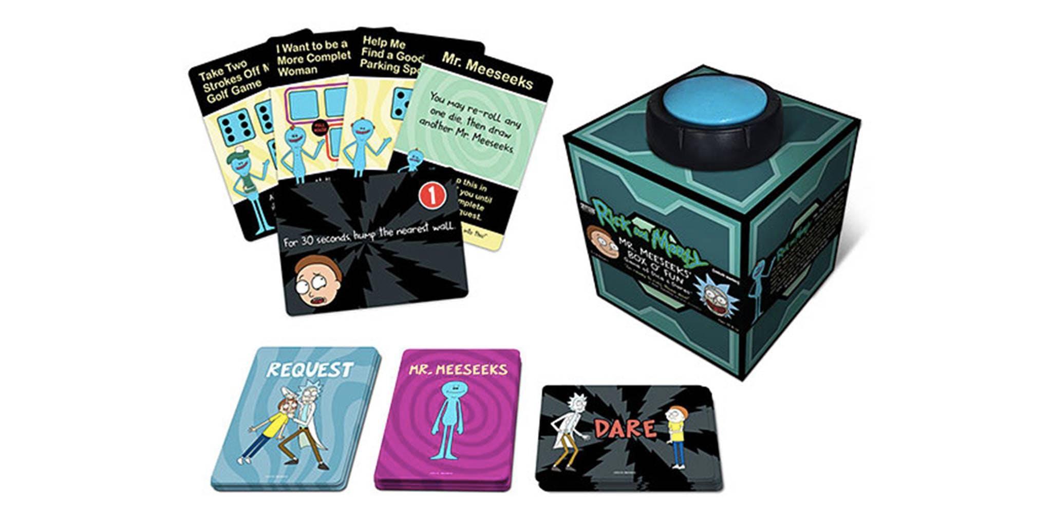 best board games : Rick and Morty Mr. Meeseeks box-o-fun