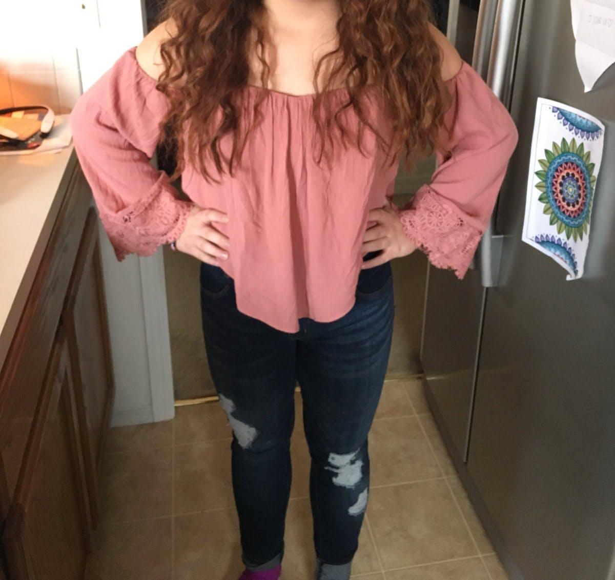 13-year-old Grace Villegas wears a Charlotte Russe top that she received criticism for wearing to school.