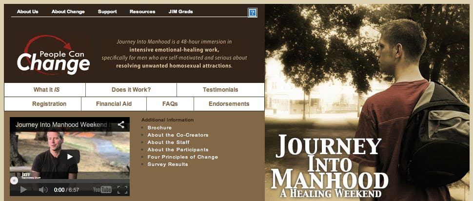 Journey Into Manhood Gay Conversion Therapy