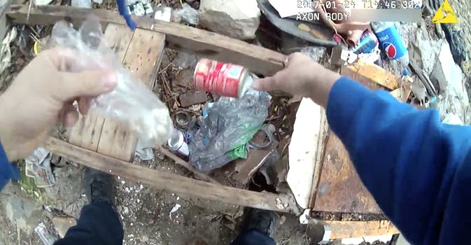 A Baltimore Police Officer Allegedly Planting Drugs