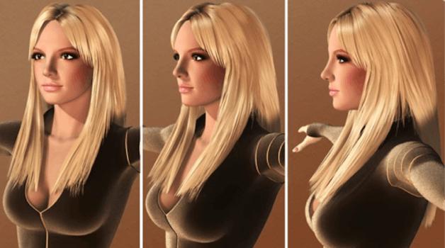 britney spears cleopatra 3d model
