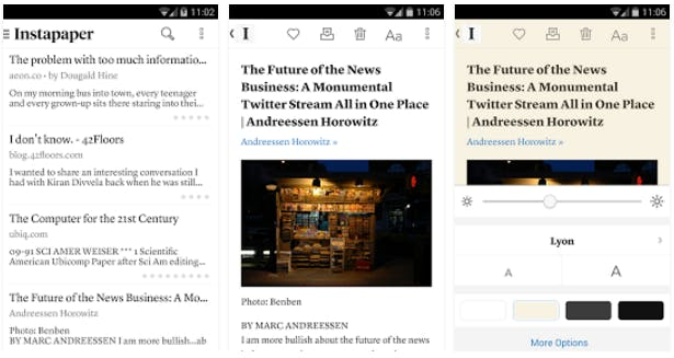 best android apps: Instapaper