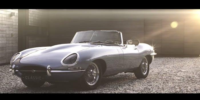 jaguar e type zero electric car