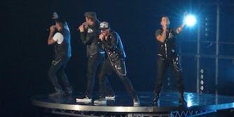 Backstreet Boys performing on stage