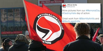 A fake Twitter account for antifascists