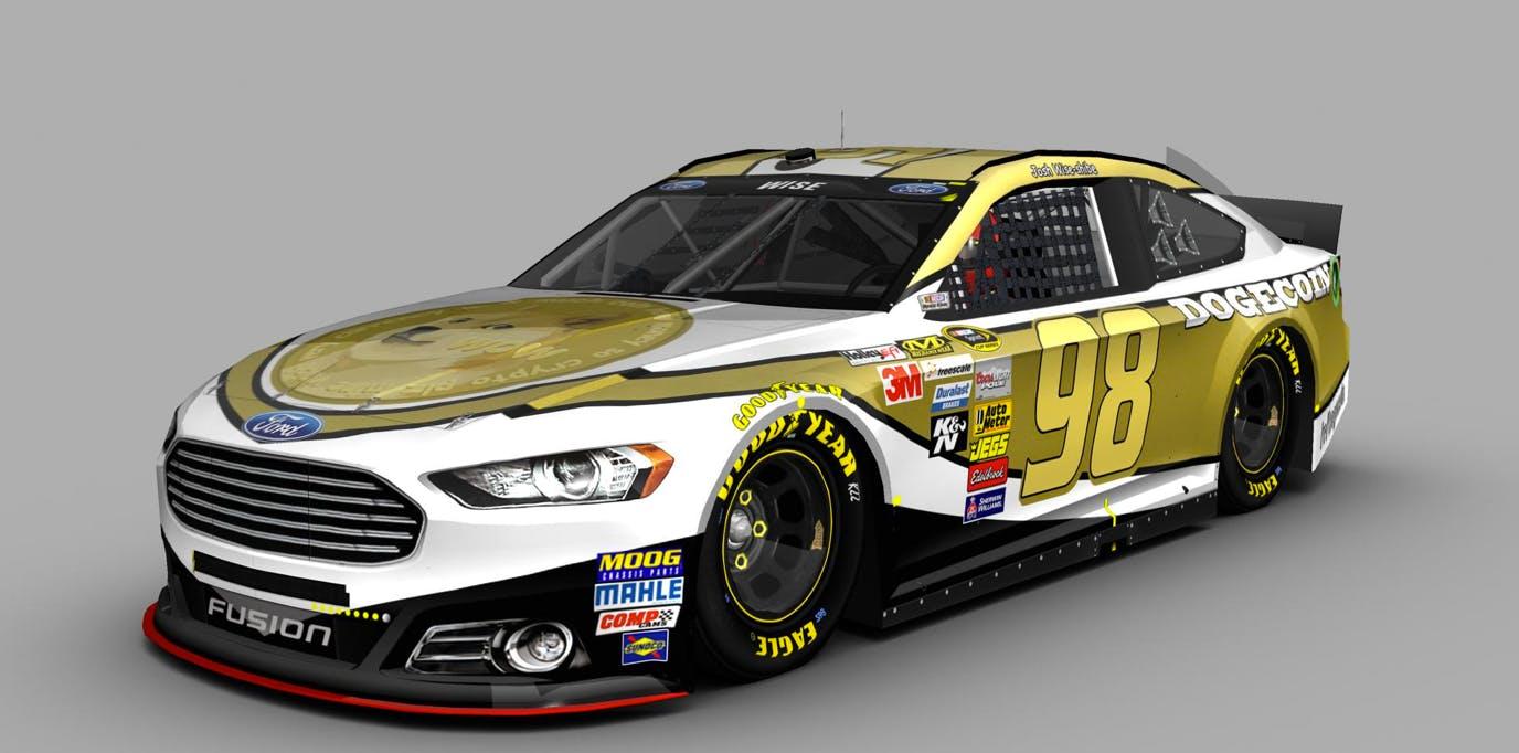 Dogecoin NASCAR car design