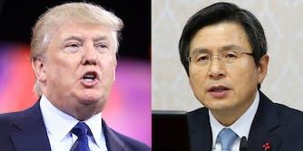Donald Trump and Hwang Kyo-ahn
