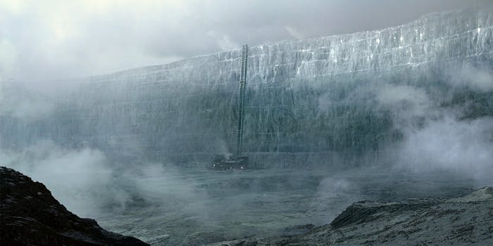 The ice wall from Game of Thrones