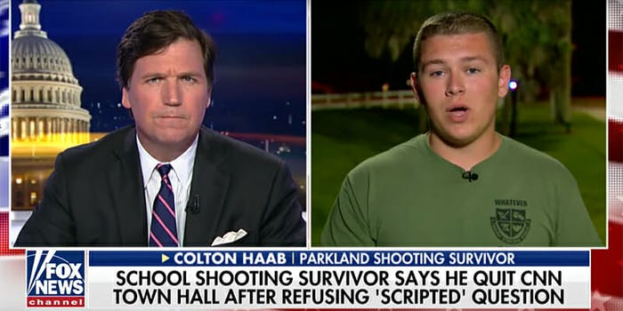 Parkland survivor Colton Haab's father admitted to altering an email in an exchange with CNN.