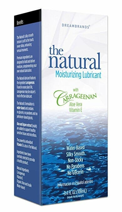 the natural lubricant carrageenan moisturizing lube on a white background.