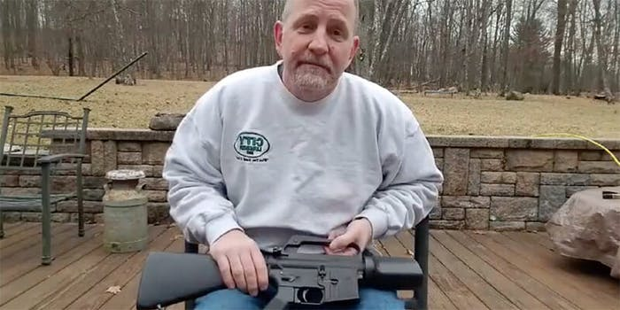 Gun owners, including Scott Pappalardo, are posting videos of themselves destroying their AR-15s and handguns in the wake of the school shooting in Parkland, Florida.