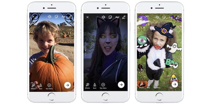 Facebook Halloween updates camera effects