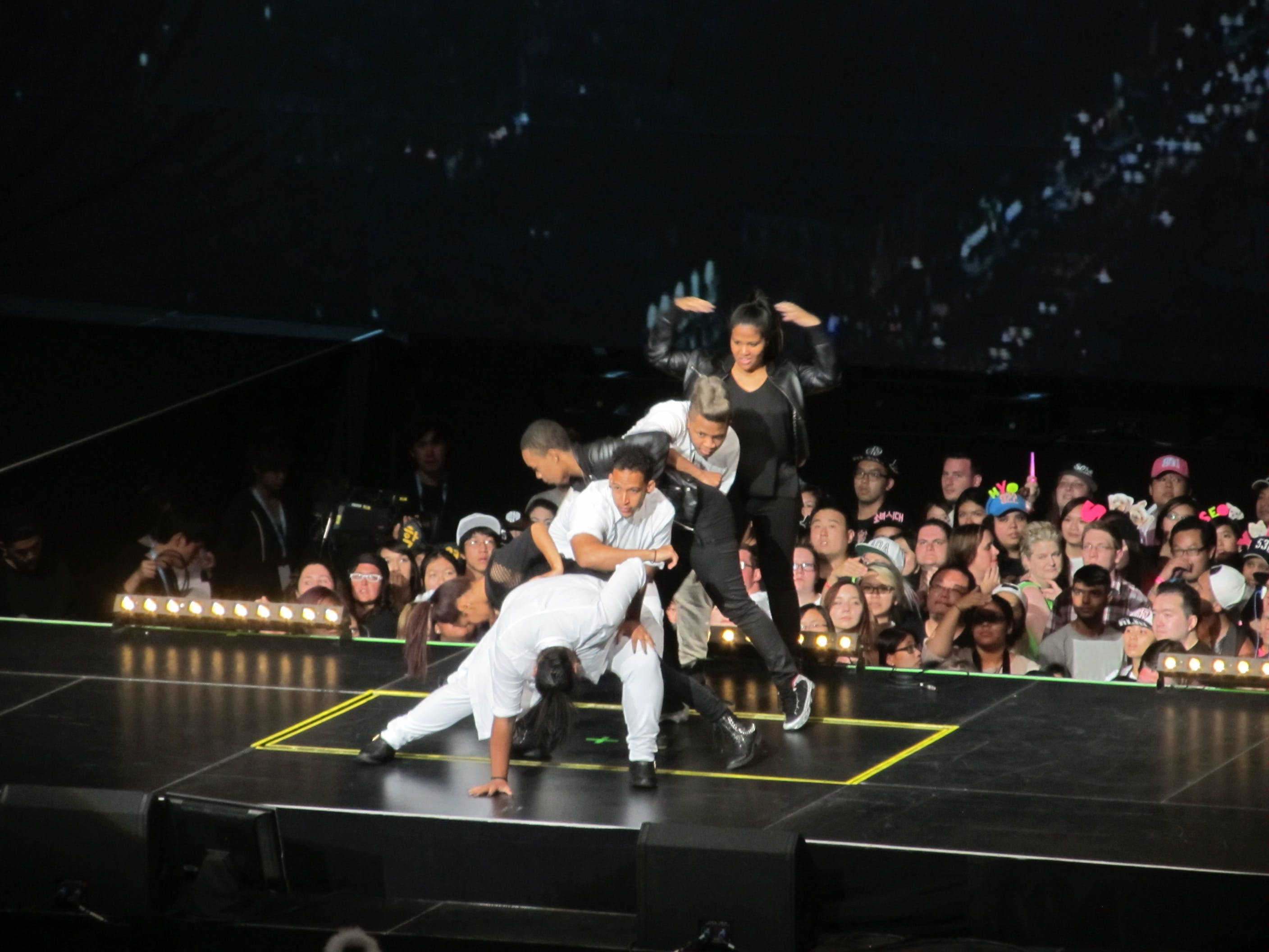 Dance group The Class performs onstage after winning the 2015 New York K-pop Festival dance competition