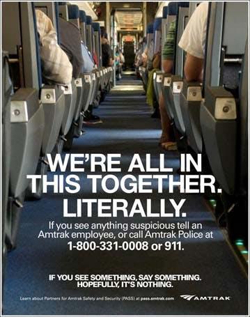 Amtrak terrorism poster