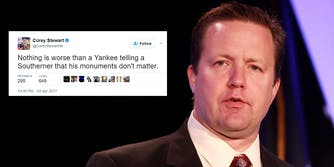 Corey Stewart tweets about Confederate monuments