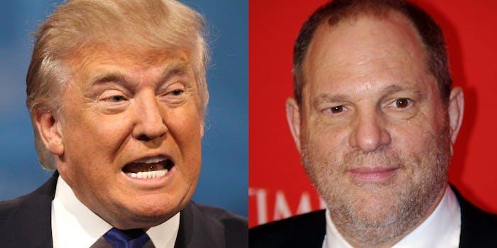 Donald Trump and Harvey Weinstein