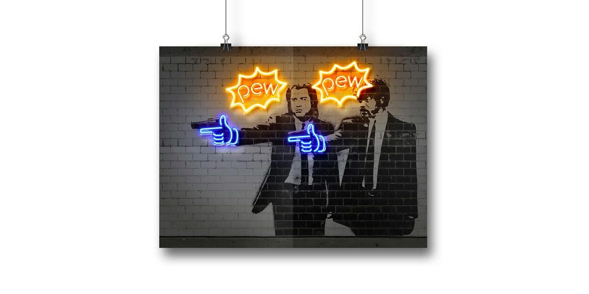 neon wall art
