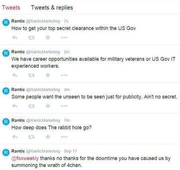 Rantic deleted tweet
