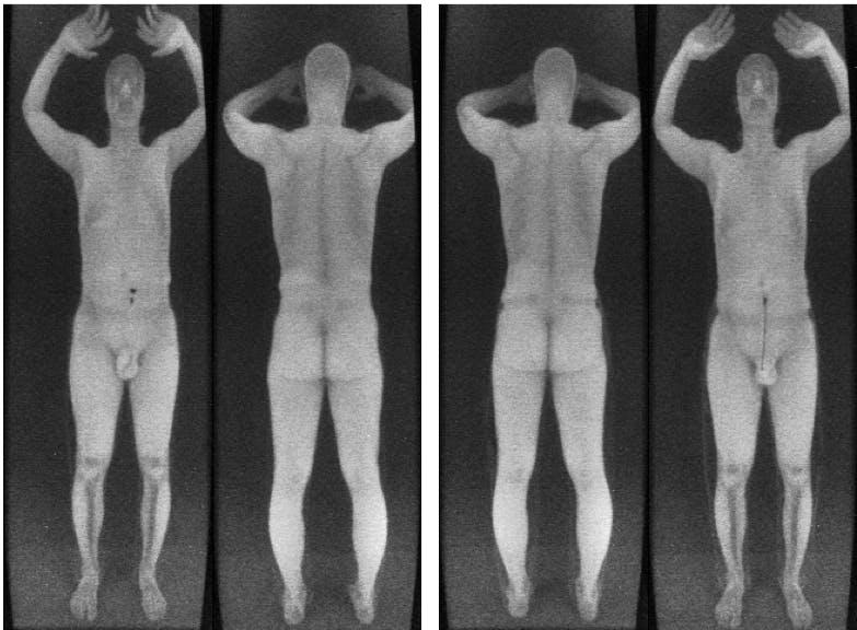 Rapiscan airport body scanner gun detection fail