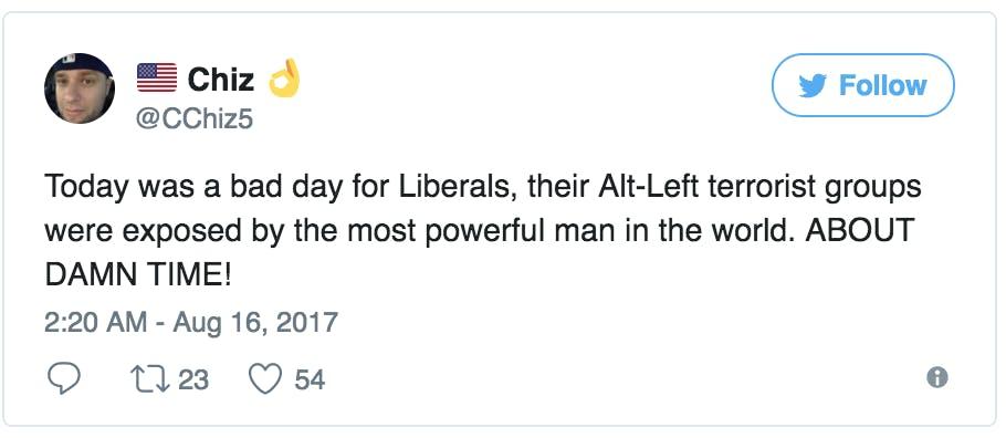 trump alt left