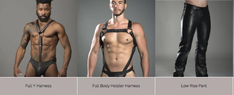 gay sex toys : Leather Man Designs' fetish fashion