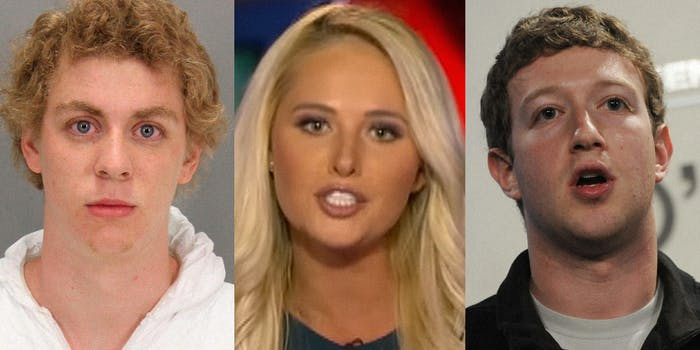 Brock Turner, Tomi Lahren, Mark Zuckerberg
