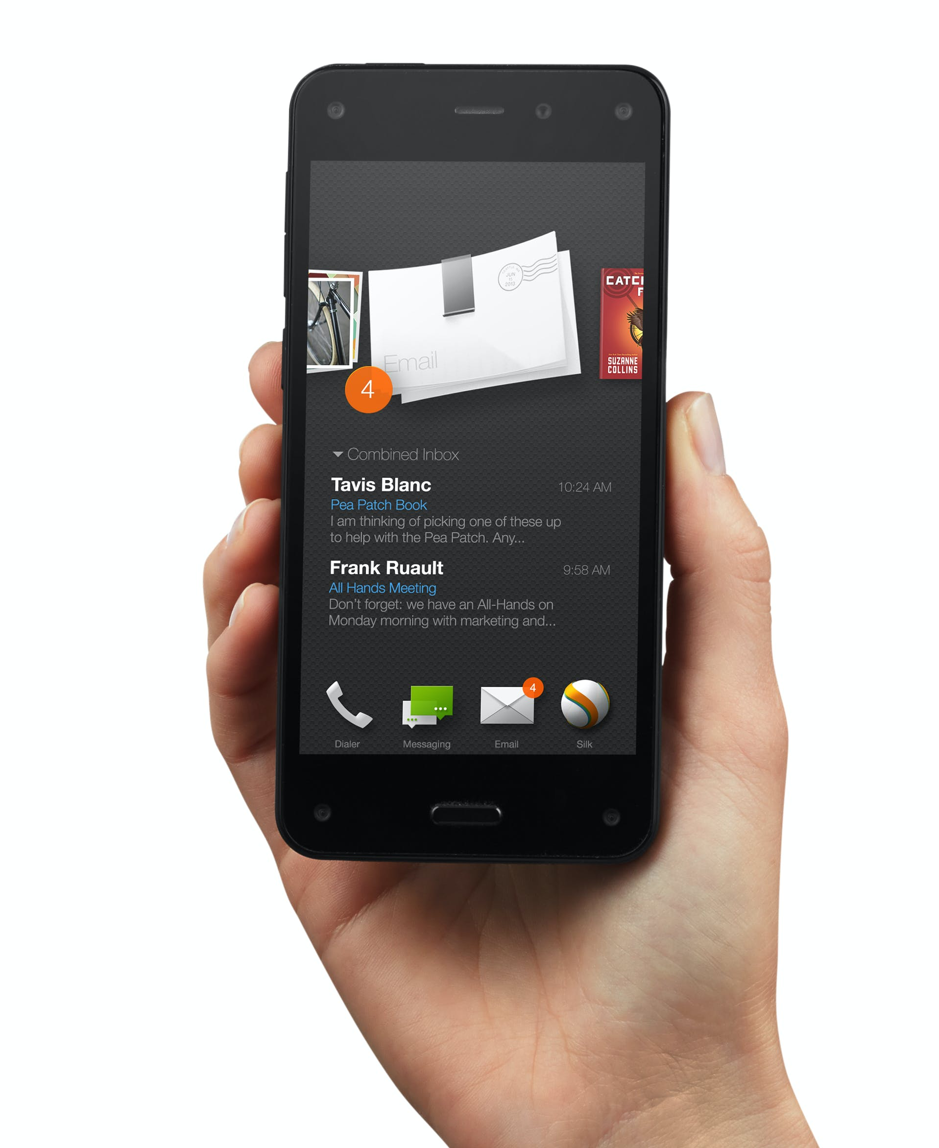 amazon fire phone in hand