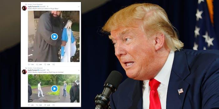 Donald Trump retweets far-right Britain First organization