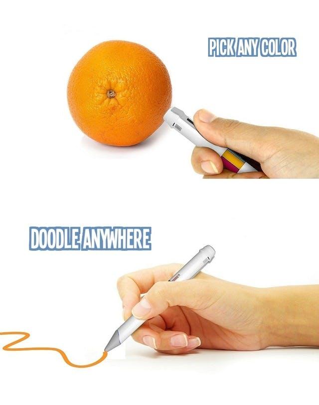 Scribble pen drawing