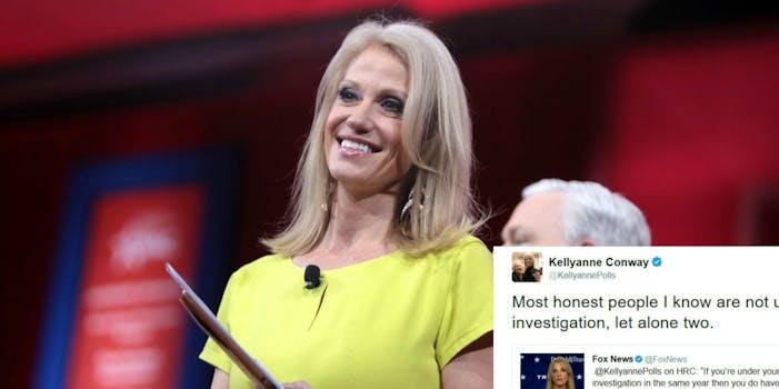 Kellyanne Conway tweet FBI investigation