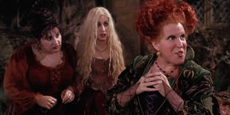 Three witch sisters from Hocus Pocus