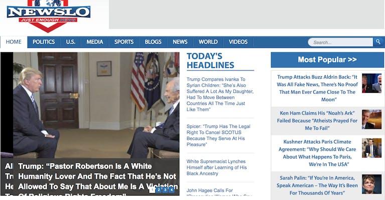 fake news sites : newslo
