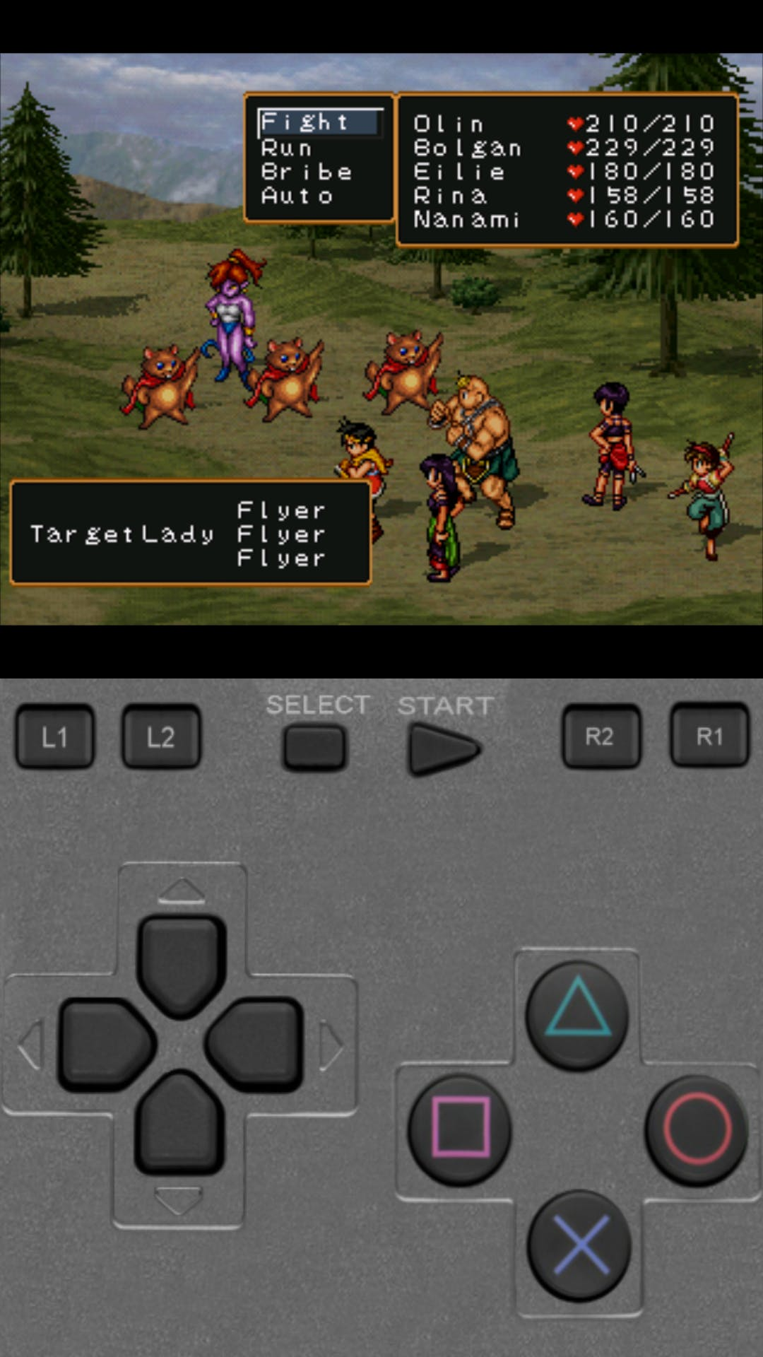 """""""Suikoden II"""" emulated by ePSXe"""