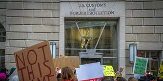Muslim Ban protest at U.S. Customs and Border Protection in Washington, D.C.