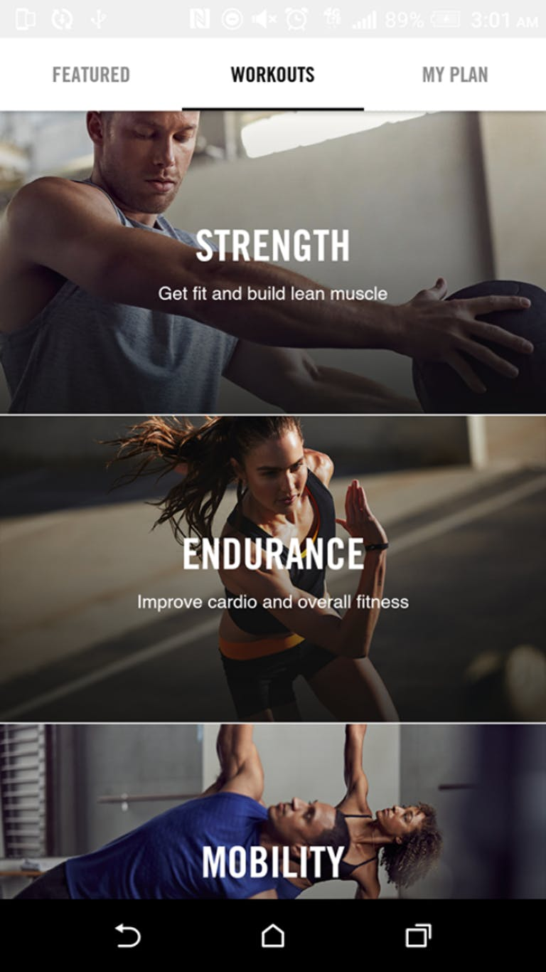 free workout apps : Nike+ Training Club