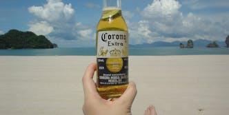 Corona on beach