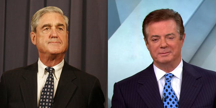 Paul Manafort will surrender to Special Counsel Robert Mueller's team on Monday, according to reports.