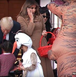 Melania Trump impressed by t-rex